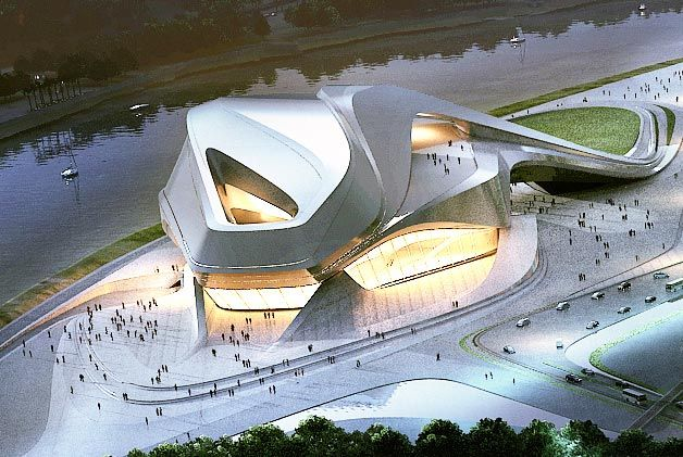 Zaha hadid architects new project in morocco zaha hadid for Architecture organique exemple