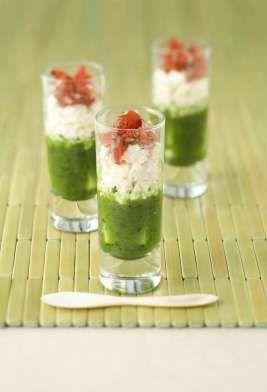 appetizers in shot glass recipes | Greek Feta Salad in a Shot Glass featuring Président® Crumbled Feta