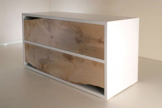 Design Styles, Decorating Ideas | Minimalist Raw Sycamore Chest Of Drawers