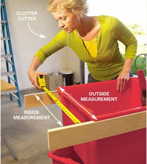 1. Measure the top of the tote to determine the width of the tote rims  and the size of the bottom flanges of the carriages.