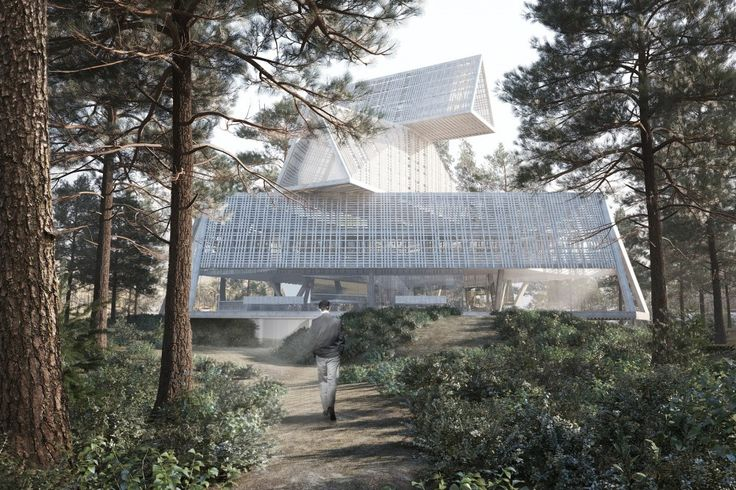 OFIS Arhitekti Designs Cantilevered Cultural Space for Arvo Pärt Center
