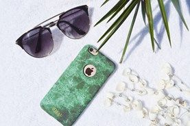 Flat lay of Ideal of Sweden iPhone case