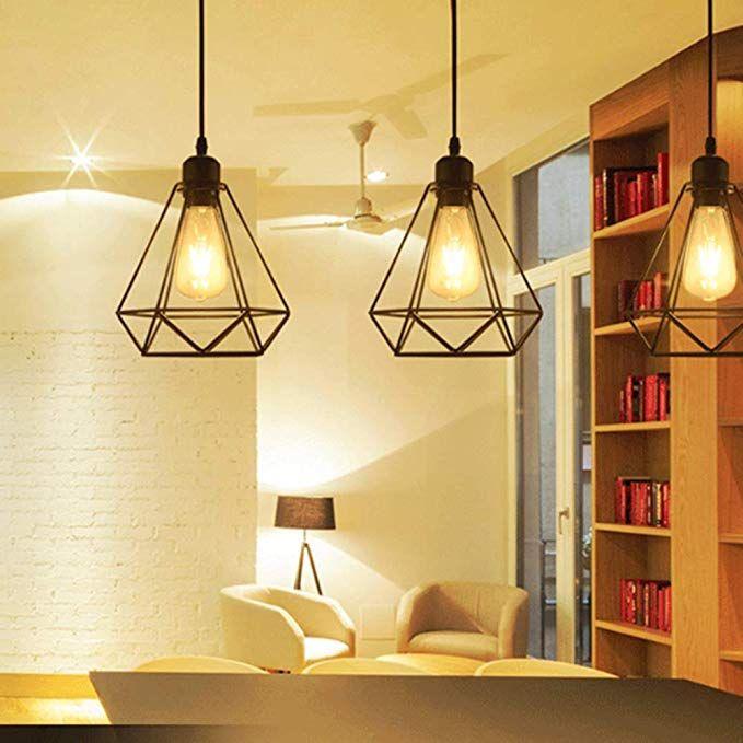 Vintage Pendelleuchte Hangelampe Kafig Hangende Lampe E27 Lampen Fassungstyp Retro Lampenschirm Licht Retro Lampenschirme Lampenschirm Pendelleuchte Vintage
