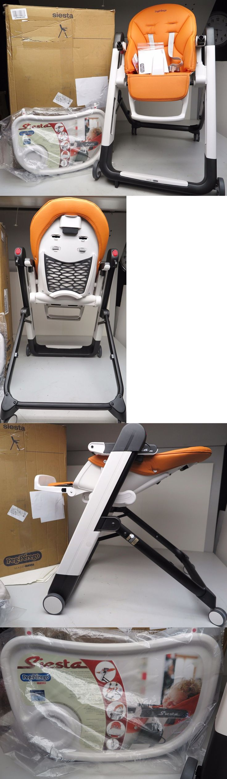 High Chairs 2986: New 2017 Peg Perego Siesta Baby Toddler High Chair Arancia Orange Imslesna03bl38 -> BUY IT NOW ONLY: $264.96 on eBay!