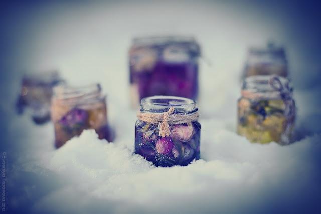 """Украшаем все вокруг! - Фотоэксперимент """"Когда уходит любовь.."""" #roses, #grey, #blue, #winter"""