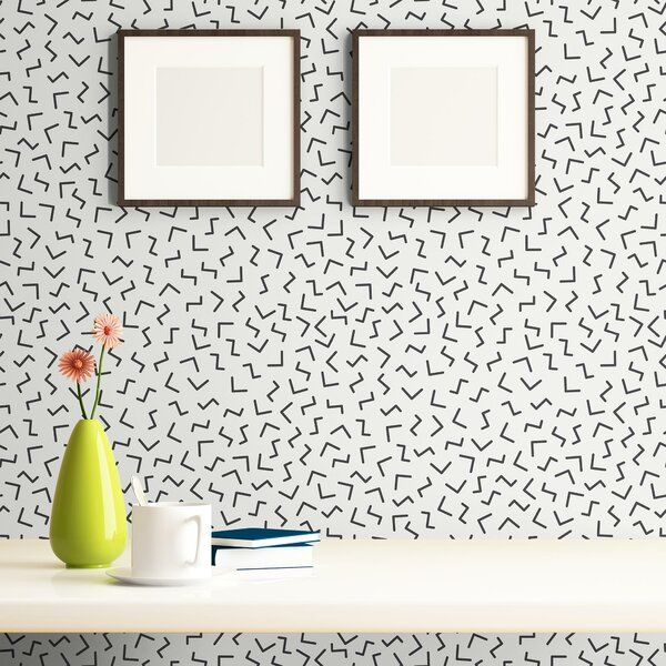 Kabir Lines Basic Removable Peel And Stick Wallpaper Panel Peel And Stick Wallpaper Wallpaper Panels Embossed Wallpaper