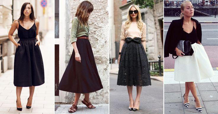 4 modebloggare i trendigt A-formade kjolen   Damernas Värld