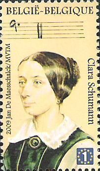 belgian stamps Masters of Music..Clara Schumann