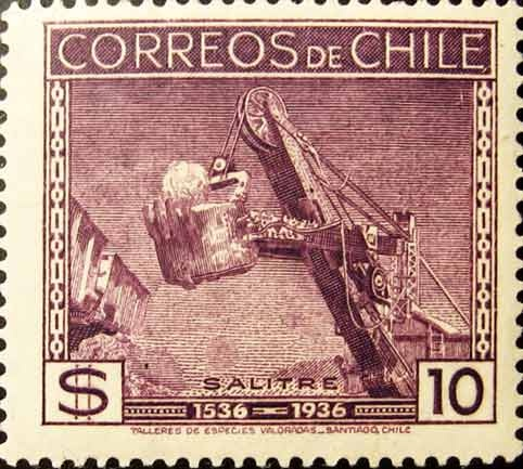 1936 chilean nitrate stamp