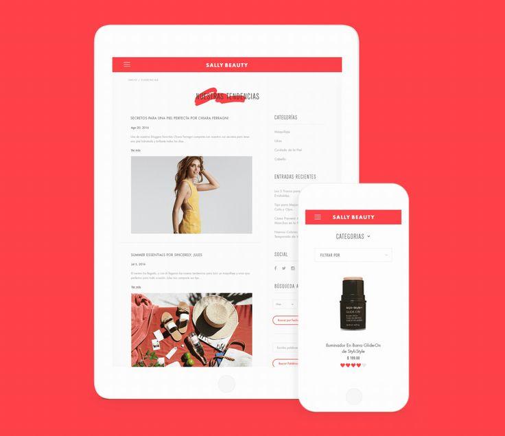 Sally Beauty Website on Behance
