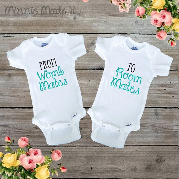 From Womb Mates To Room Mates Twin Baby Matching Outfits (Set Of 2) Baby Boy…