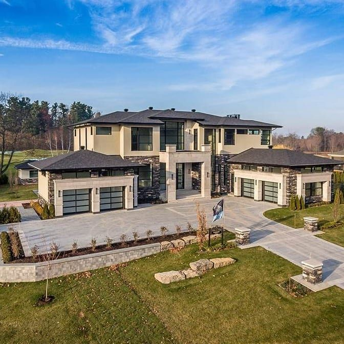 Contemporary Style Beauty 27 Place Madison Hudson Quebec Canada 5 000 Square Feet 4 Bedrooms 6 House Colors Exterior Design Luxury Real Estate