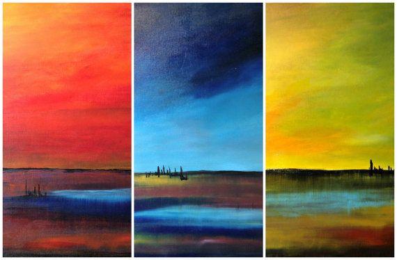 Original abstract vibrant contemporary acrylic by ITsARTbySNOWBEE