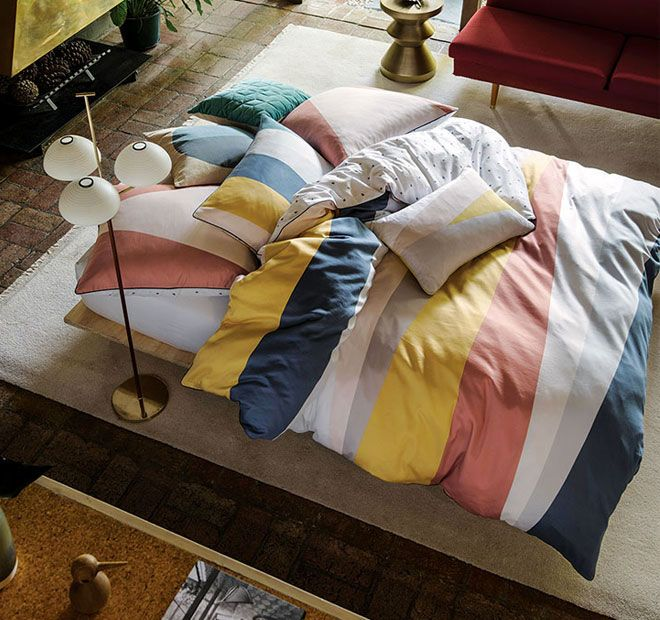 Macy Quilt Cover Set Range Multi - Shop