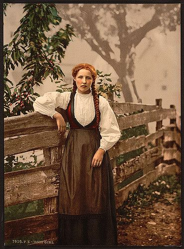 [A girl of Voss, Hardanger Fjord, Norway] (LOC) | Flickr - Photo Sharing!