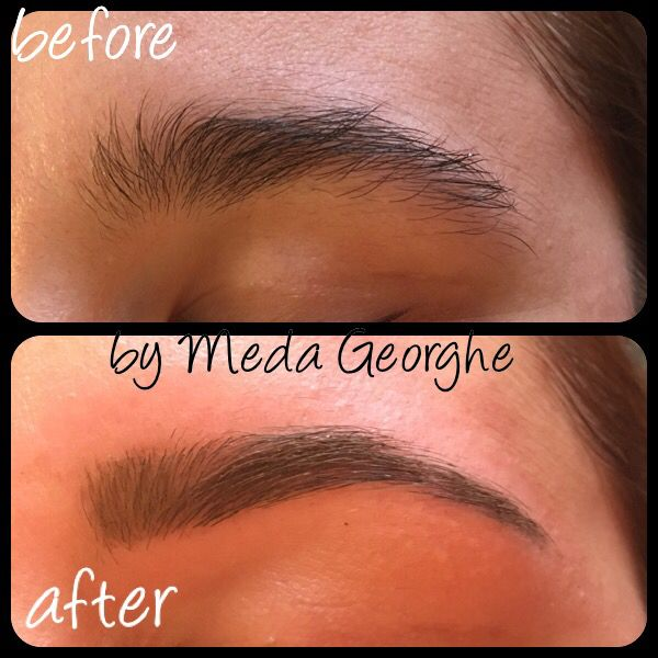 Before&after brows