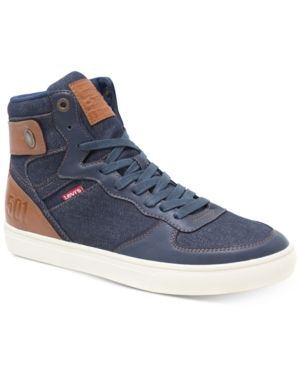 LEVI'S MEN'S JEFFREY HI 501 DENIM SNEAKERS MEN'S SHOES.  levis  shoes 819b2ecf0501