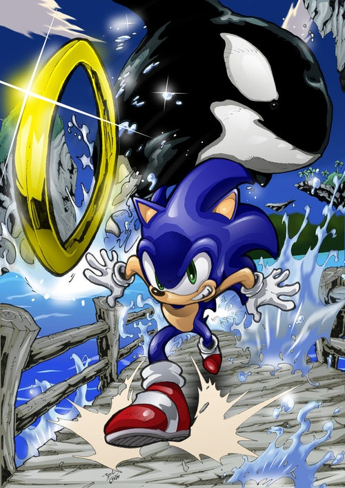 Sonic must have said something to the whale about it being a fish, so the whale gets angry and goes after sonic