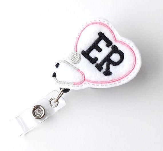 ER Nurse Gifts Emergency Room Badge Pull  Cute Badge Reels  Unique Retractable Badge Holders by BadgeBlooms, $7.00