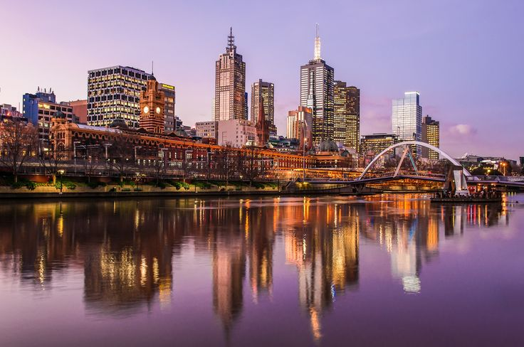 Фотография Sunset on Yarra автор astroprojector на 500px