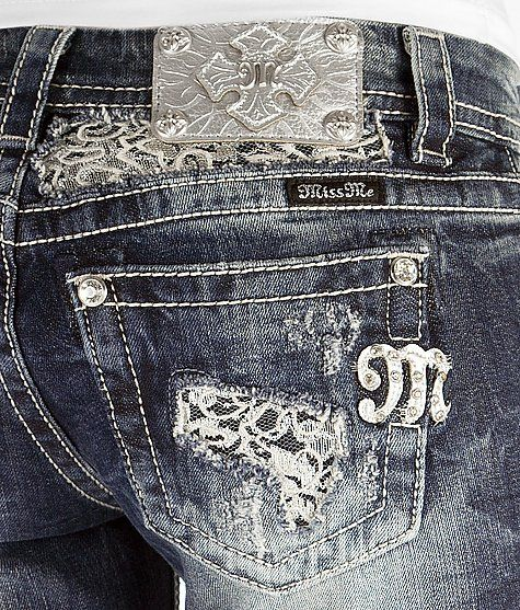 Miss Me Boot Stretch Jean I like the lace instead of bling.