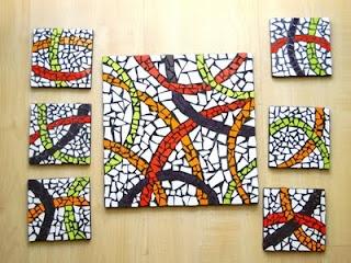 Tabla y posavasos | Cosas lindas de mosaico