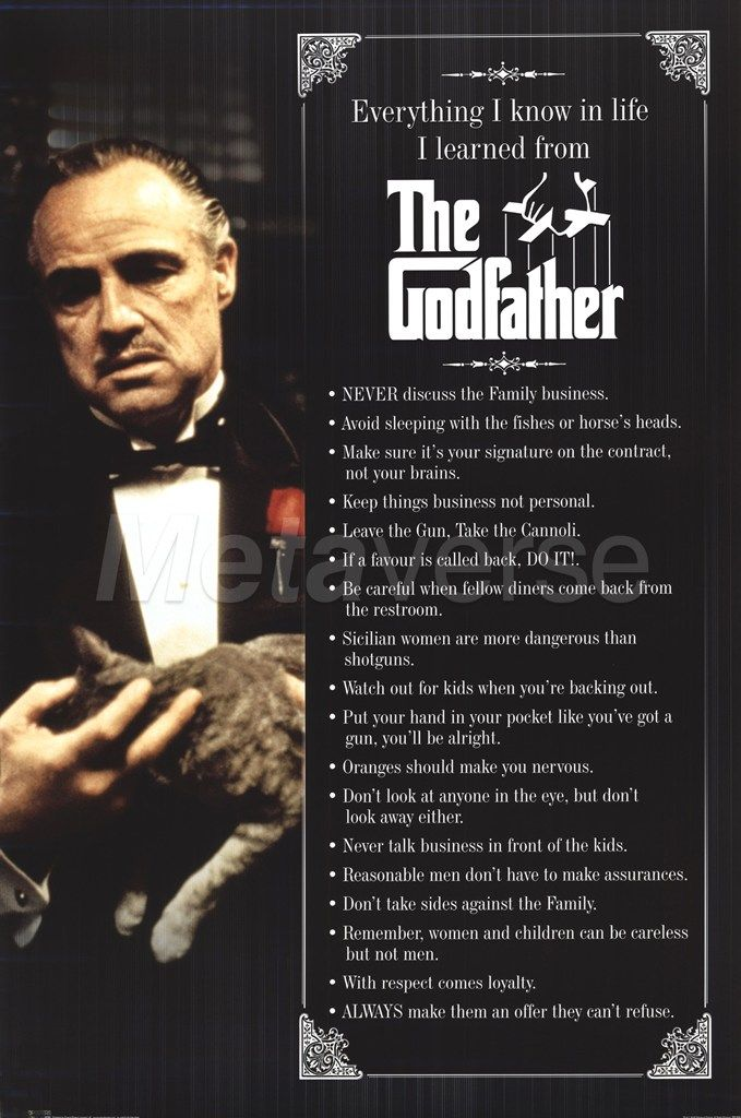 Everything I know in life, I learn it from #TheGodfather...