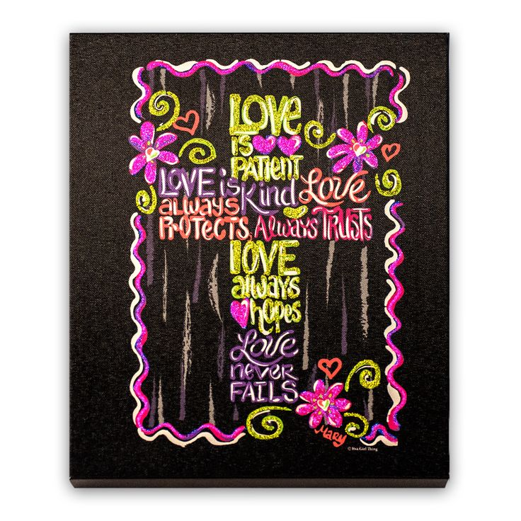 Itsa Love is Patient - Canvas - Itsa Girl Thing