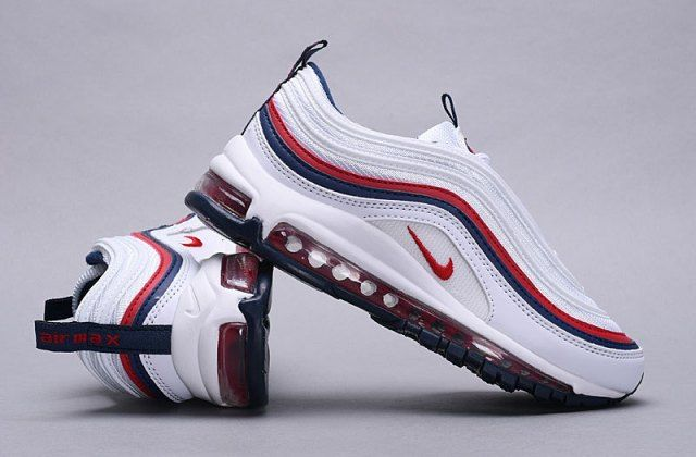 Nike Air Max 97 White Red Women's Running Shoes