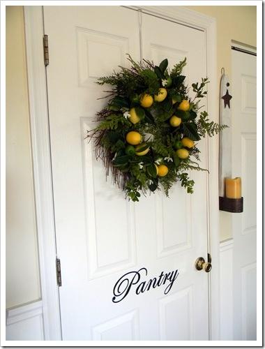 Pretty up a pantry door