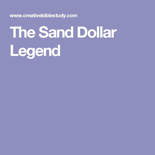 The Sand Dollar Legend