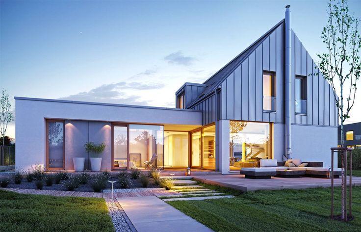Nowoczesny 1 - wizualizacja 2 - Projekty nowoczesnych domów