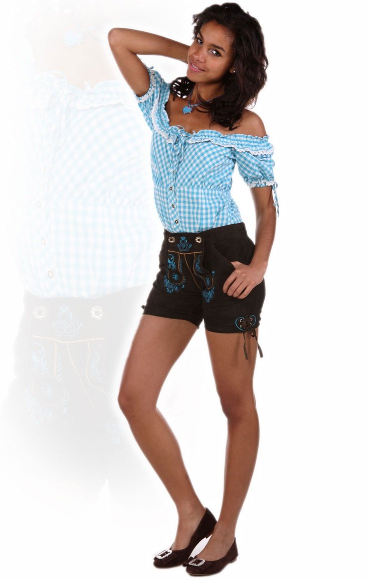 stockerpoint trachten lederhose elfi ledershort urig t rkis trachten lederhosen damen. Black Bedroom Furniture Sets. Home Design Ideas