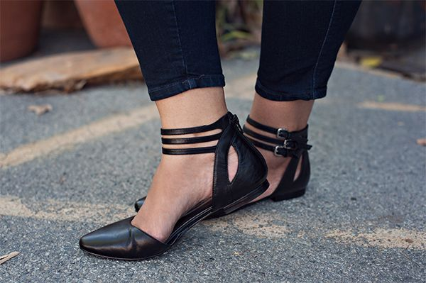 Last but certainly not least, flats are a must for running around! I love that these ones by Nine West have the buckles and cut-outs, and the best part is there is a zipper up the back, so I don't have to worry about unbuckling everything each time I want to wear them.