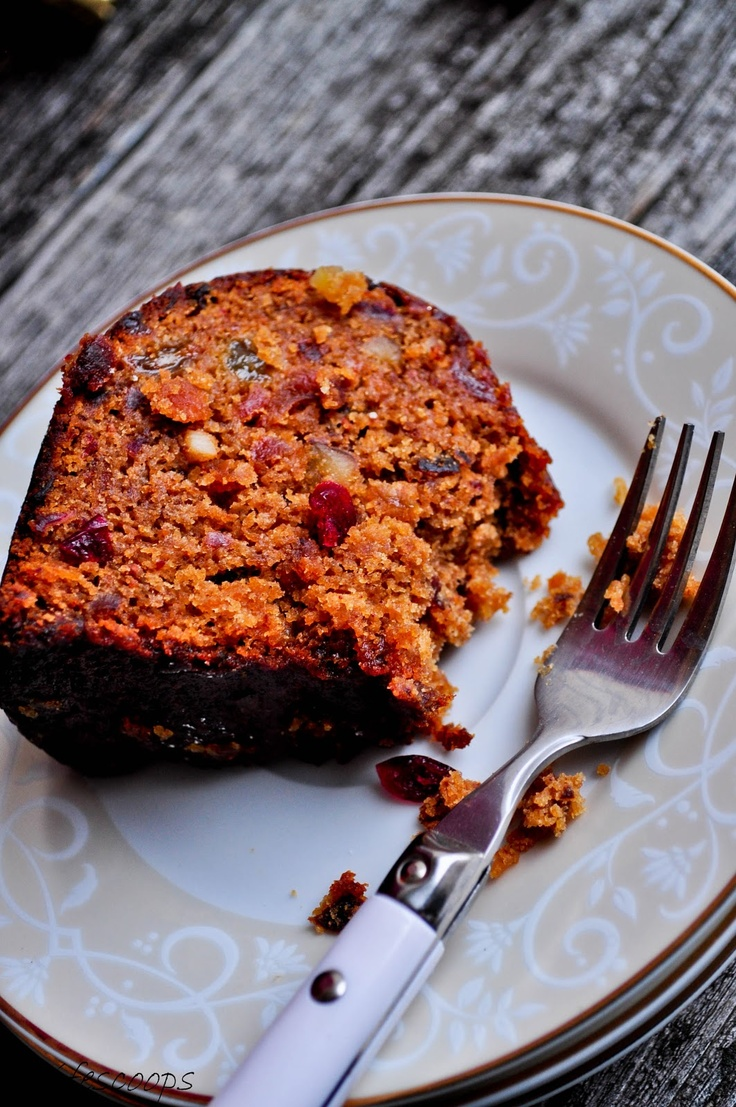Christmas Fruit Cake with dried fruit and not citron and baked in a bundt pan...this sounds delicious!