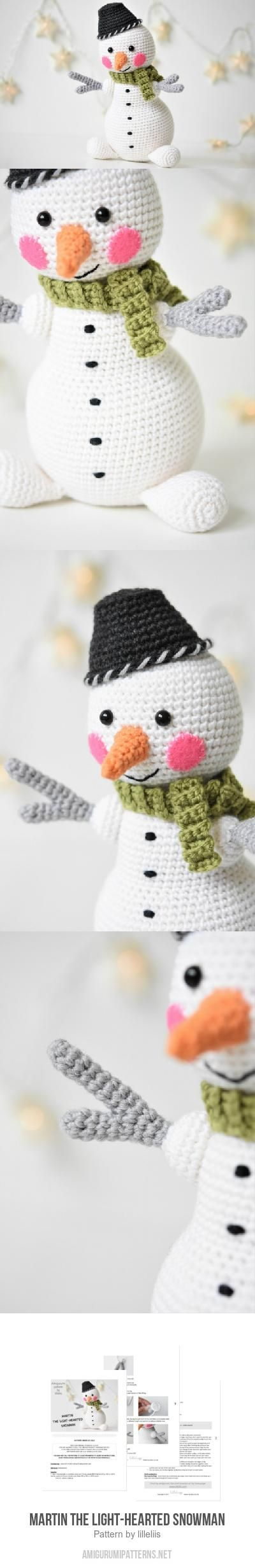 Martin the Light-hearted Snowman amigurumi pattern