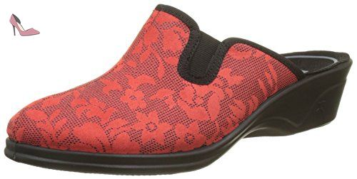Romika Remo 402, Chaussons Mules Femme, Rouge (Rot), 38 EU - Chaussures romika (*Partner-Link)
