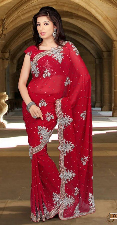 Maroon Color Faux Chiffon Designer Saree TPSE701. Save: 5% off