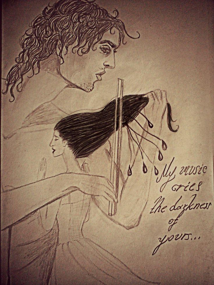 """""""Μια μουσική είχα κι εγώ, της έμπνευσής μου ήσουν η μούσα... Στα μονοπάτια των δακρύων, των μελανών, εγώ περπατούσα..."""""""