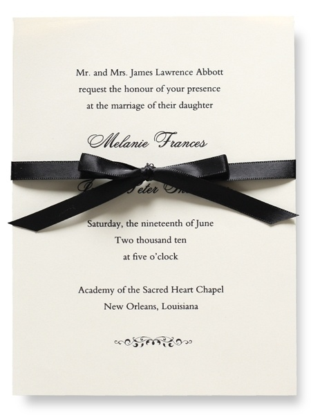 Vera Wang. Wedding Invitations.