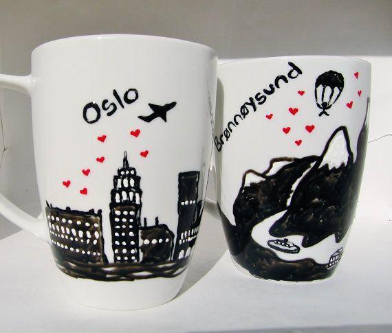 Long Distance Relationship Mug Customized Gift Canada door 39Cups, $39.95