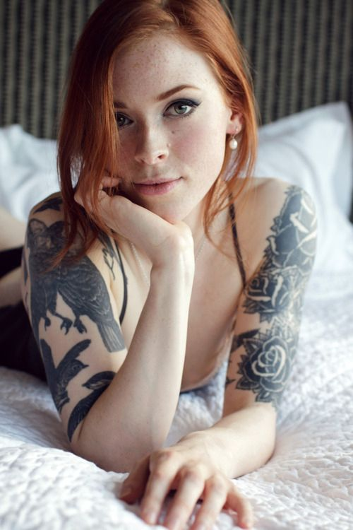 Tattoos with naked Sexy girls redhead