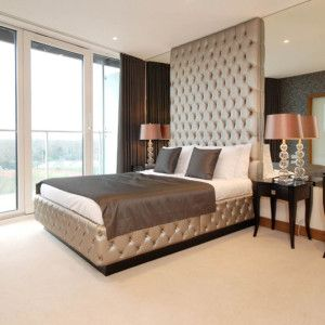 Best Floor To Ceiling Button Tufted Bed – Modern Bedroom 400 x 300