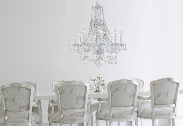What do you think about the all white glass arm chandelier ...