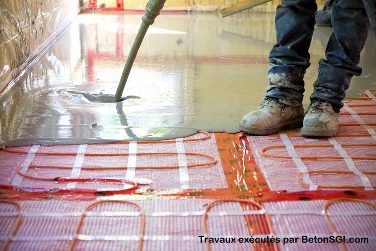 Béton léger autonivelant pour plancher chauffant électrique