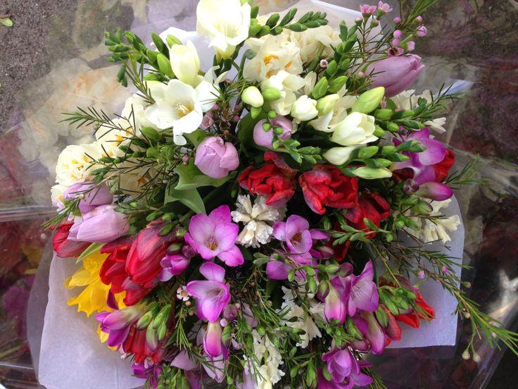 Freesia bouquet.