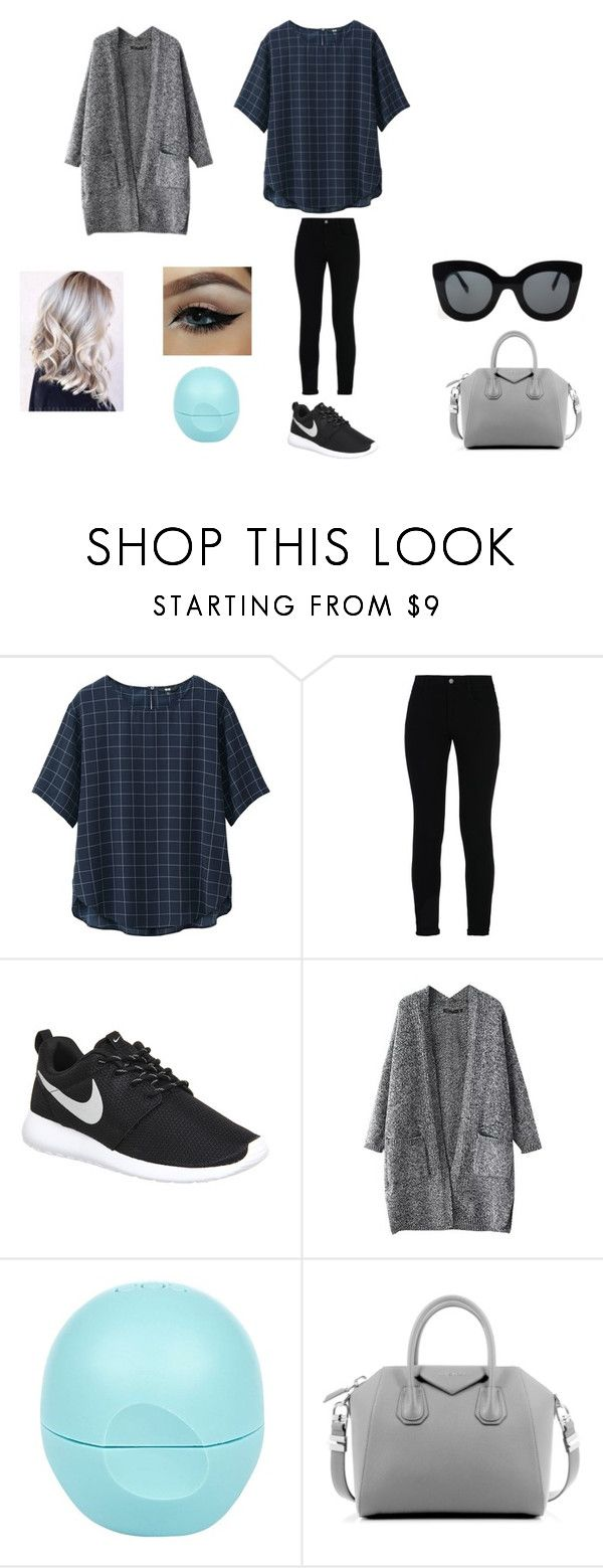 """She's Back."" by dreaming-of-a-better-tomorrow ❤ liked on Polyvore featuring Uniqlo, STELLA McCARTNEY, NIKE, River Island, Givenchy and CÉLINE"