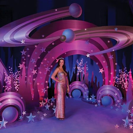 Out of This World Complete Theme – Go beyond where other Proms have gone and grab your chance at a Prom adventure theme that is guaranteed to provide a galaxy of fun above the stars. This complete theme kit includes materials and instructions to create the perfect outer space adventure.   Shop our Prom Store for Prom Ideas and Prom Supplies today!