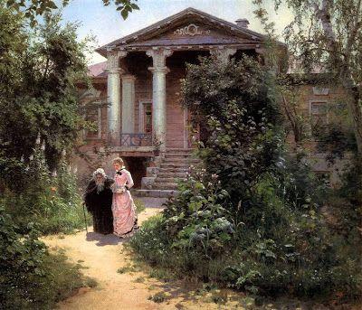 Vasily Polenov (1844-1927) - The Grandmother's Garden, 1878