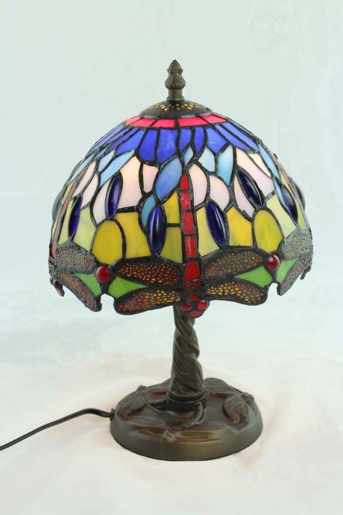 Sobremesa Tiffany Pequeña Energy led cristal de colores